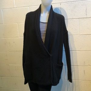 Lululemon black knit cardigan sweater sz 8 59721